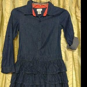 DreamPop Denim Dress for Girls